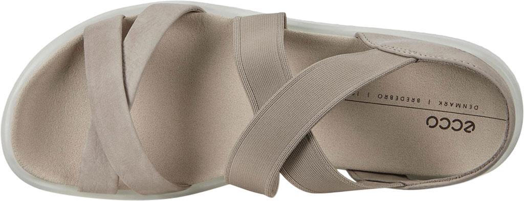 Women's ECCO Flowt Elastic Active Sandal, Grey Rose Nubuck, large, image 5