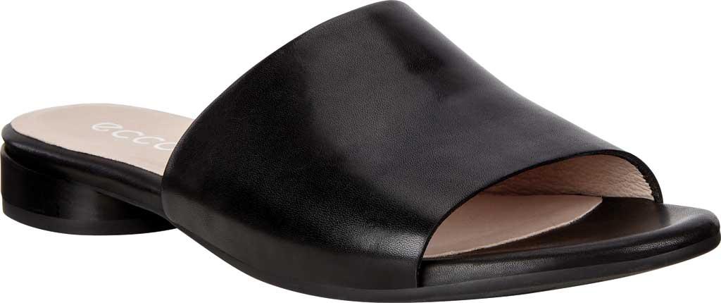Women's ECCO Flat Sandal II Slide, Black Full Grain Leather, large, image 1