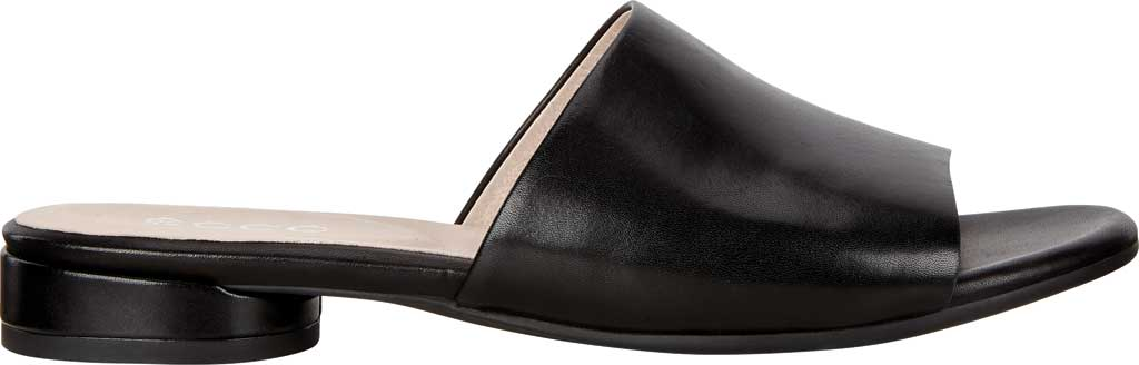 Women's ECCO Flat Sandal II Slide, Black Full Grain Leather, large, image 2