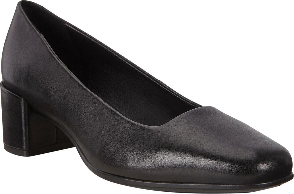 Women's ECCO Shape 35 Square Toe Pump, Black Full Grain Leather, large, image 1