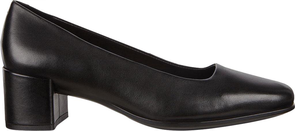 Women's ECCO Shape 35 Square Toe Pump, Black Full Grain Leather, large, image 2