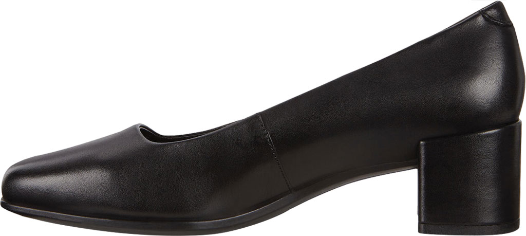 Women's ECCO Shape 35 Square Toe Pump, Black Full Grain Leather, large, image 3