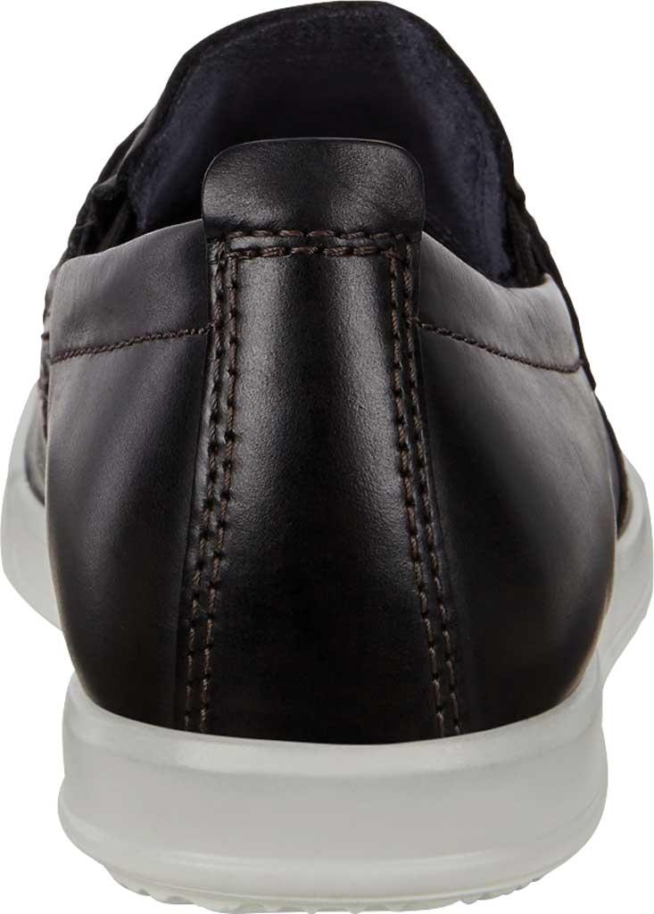 Men's ECCO Cathum Penny Loafer, Black Nubuck, large, image 4