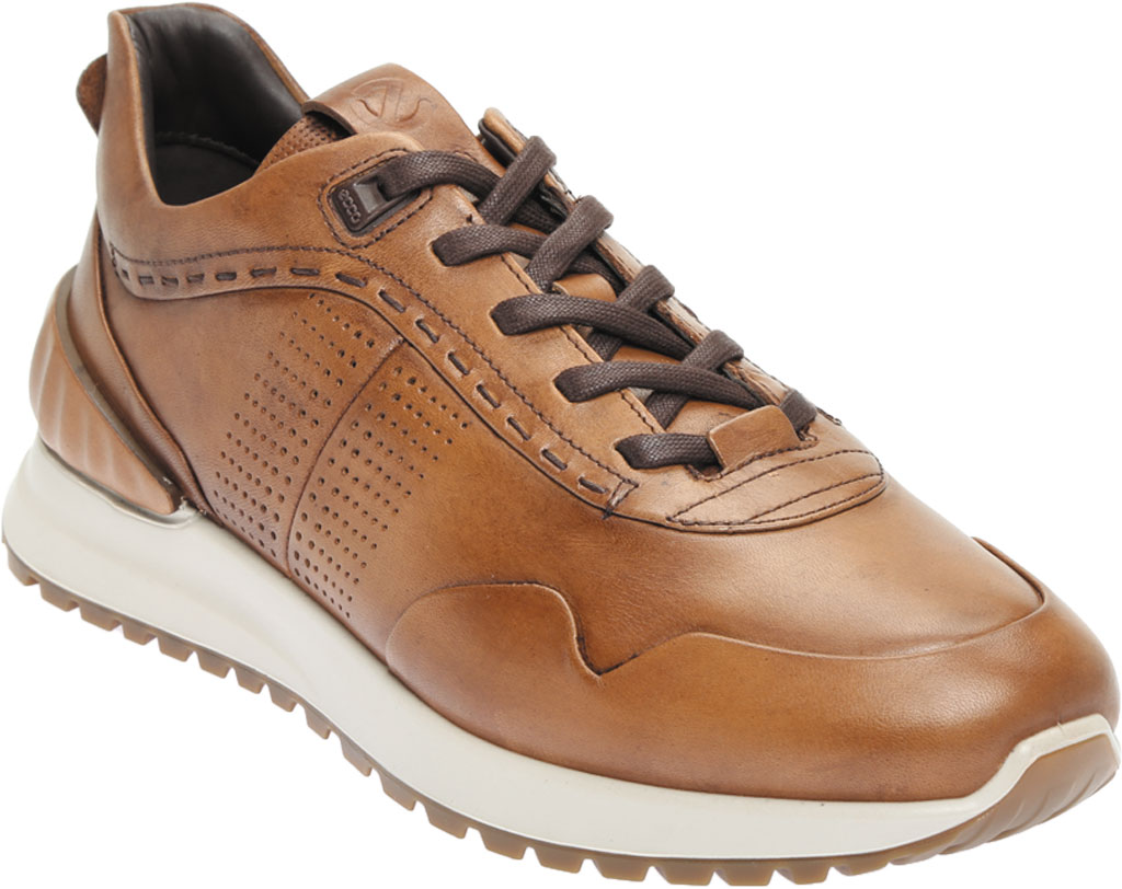 Men's ECCO Astir Dress Sneaker, Amber Full Grain Leather, large, image 1
