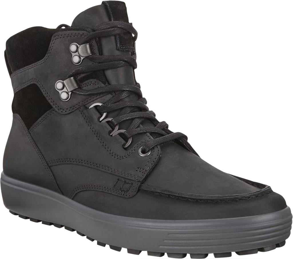Men's ECCO Soft 7 Tred Moc Toe Ankle Boot, Black/Black Cow Oil Nubuck, large, image 1