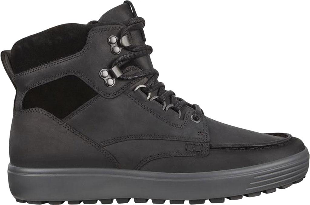 Men's ECCO Soft 7 Tred Moc Toe Ankle Boot, Black/Black Cow Oil Nubuck, large, image 2