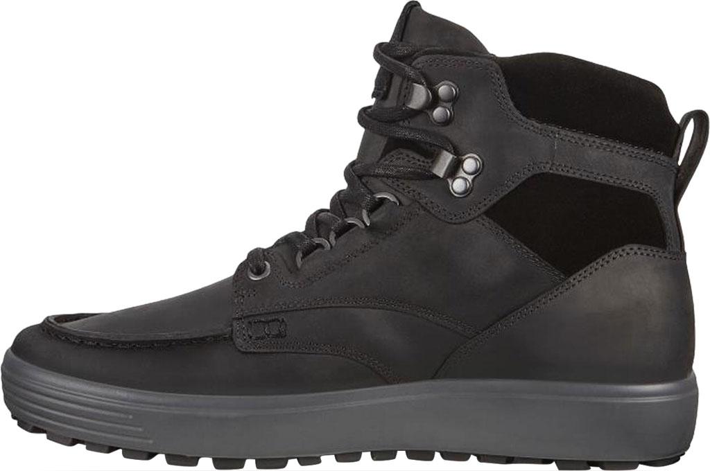 Men's ECCO Soft 7 Tred Moc Toe Ankle Boot, Black/Black Cow Oil Nubuck, large, image 3