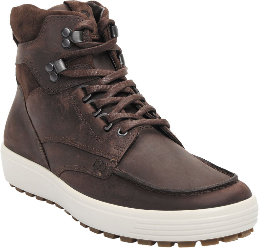Men's ECCO Soft 7 Tred Moc Toe Ankle Boot, Mocha/Coffee Cow Oil Nubuck, large, image 1