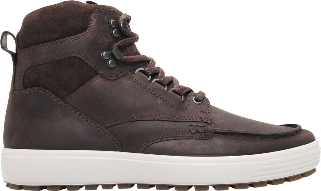 Men's ECCO Soft 7 Tred Moc Toe Ankle Boot, Mocha/Coffee Cow Oil Nubuck, large, image 2