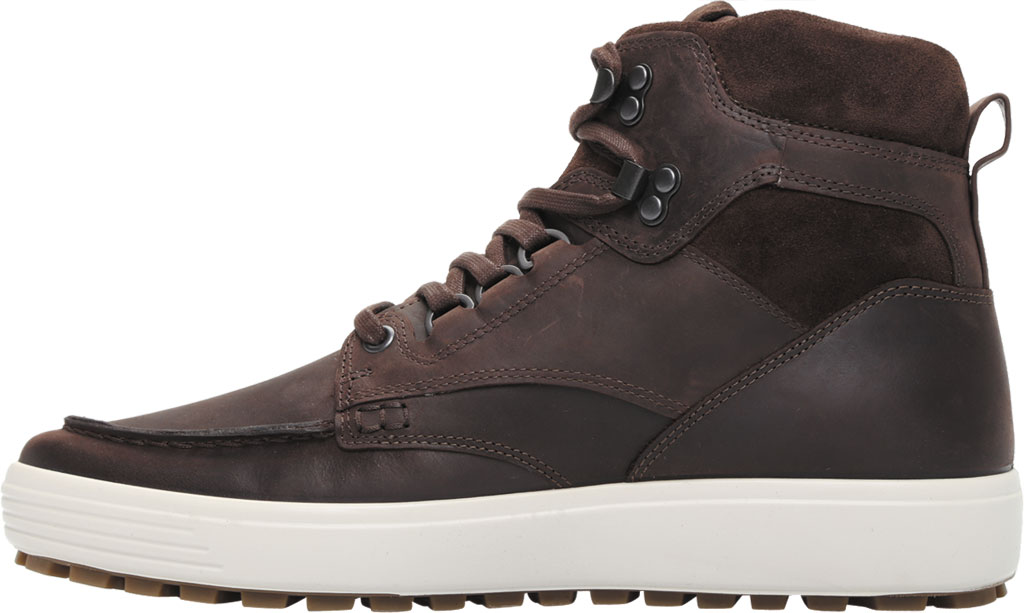 Men's ECCO Soft 7 Tred Moc Toe Ankle Boot, Mocha/Coffee Cow Oil Nubuck, large, image 3