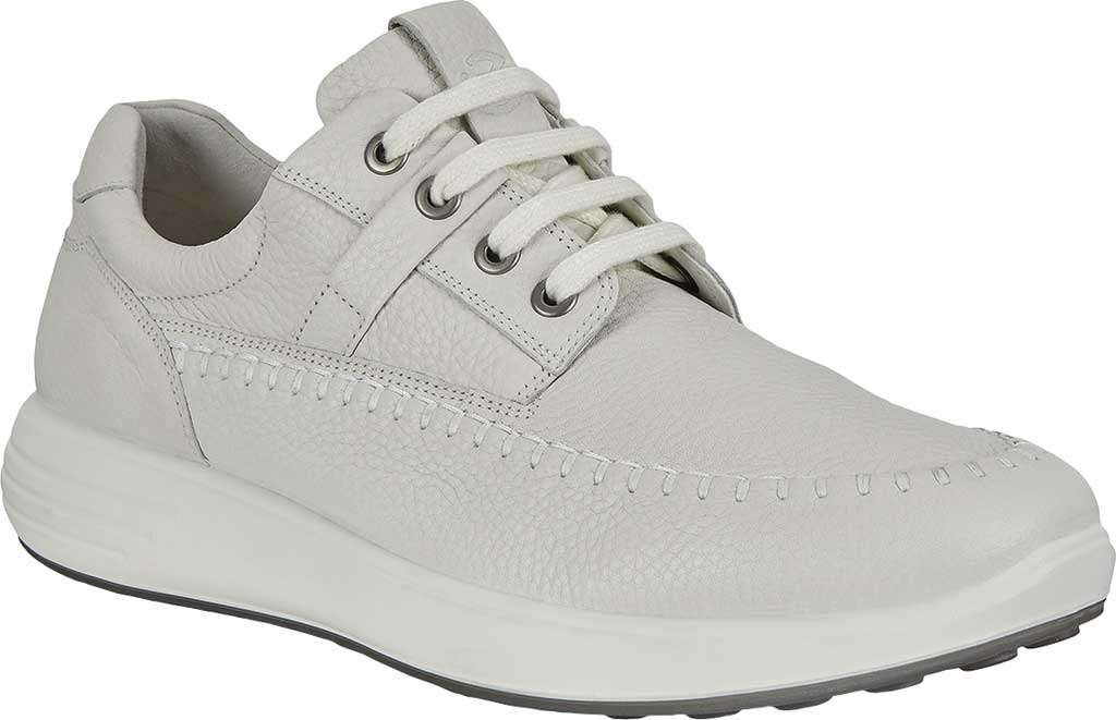 Men's ECCO Soft 7 Runner Seawalker Moc Toe Sneaker, White Cow Leather, large, image 1