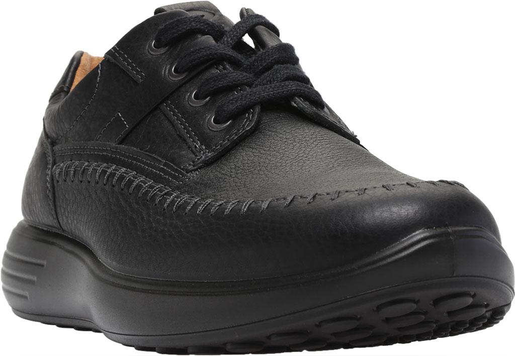 Men's ECCO Soft 7 Runner Seawalker Moc Toe Sneaker, Black Cow Oil Nubuck, large, image 1