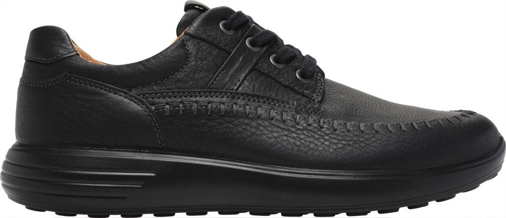 Men's ECCO Soft 7 Runner Seawalker Moc Toe Sneaker, Black Cow Oil Nubuck, large, image 2