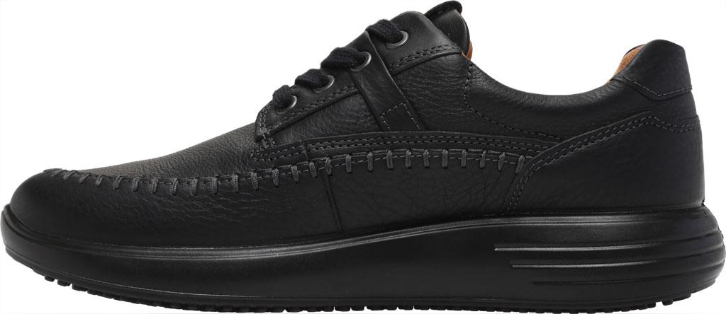 Men's ECCO Soft 7 Runner Seawalker Moc Toe Sneaker, Black Cow Oil Nubuck, large, image 3