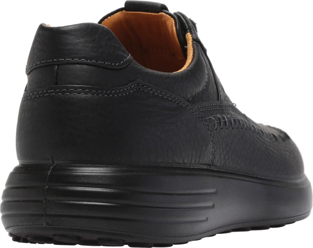 Men's ECCO Soft 7 Runner Seawalker Moc Toe Sneaker, Black Cow Oil Nubuck, large, image 4