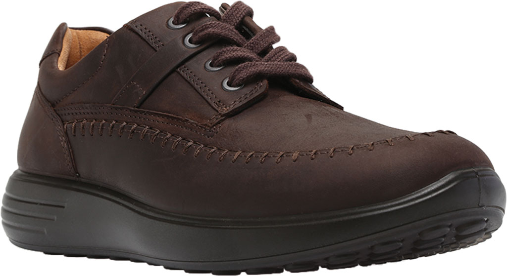 Men's ECCO Soft 7 Runner Seawalker Moc Toe Sneaker, Mocha Cow Oil Nubuck, large, image 1