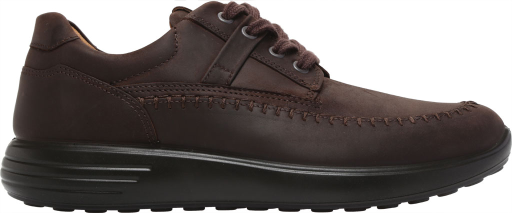 Men's ECCO Soft 7 Runner Seawalker Moc Toe Sneaker, Mocha Cow Oil Nubuck, large, image 2