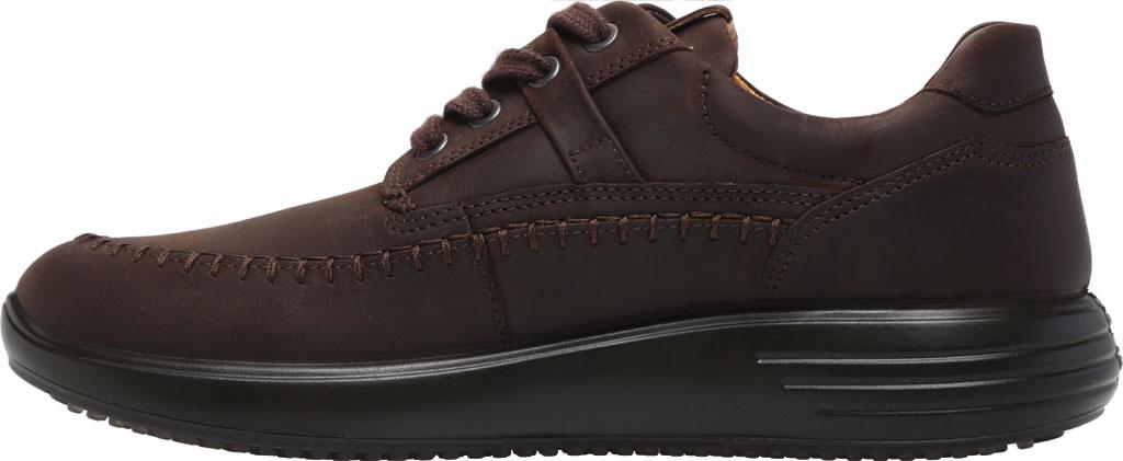 Men's ECCO Soft 7 Runner Seawalker Moc Toe Sneaker, Mocha Cow Oil Nubuck, large, image 3