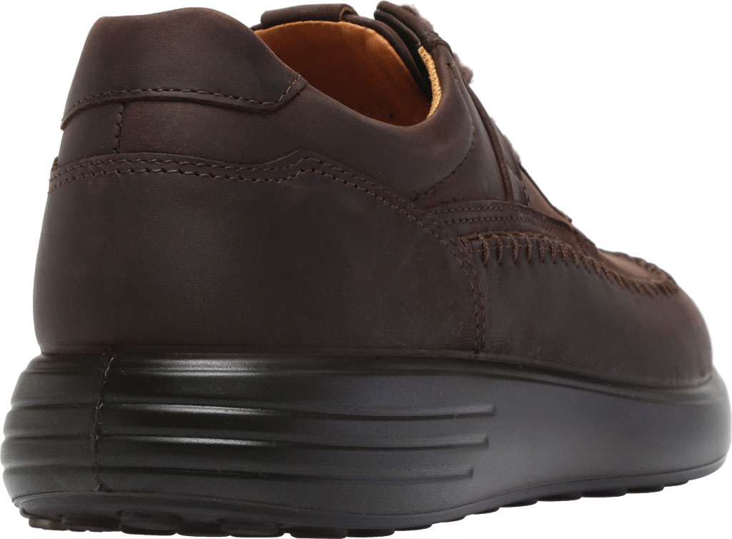 Men's ECCO Soft 7 Runner Seawalker Moc Toe Sneaker, Mocha Cow Oil Nubuck, large, image 4