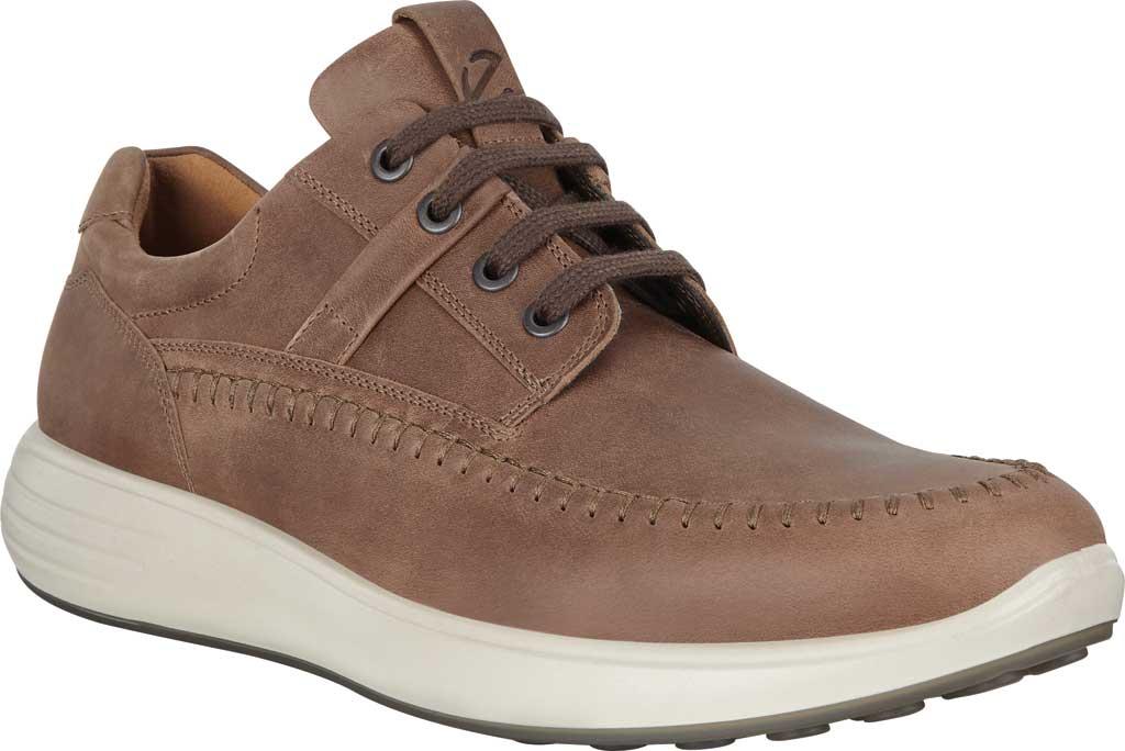 Men's ECCO Soft 7 Runner Seawalker Moc Toe Sneaker, Cocoa Brown Cow Oil Nubuck, large, image 1