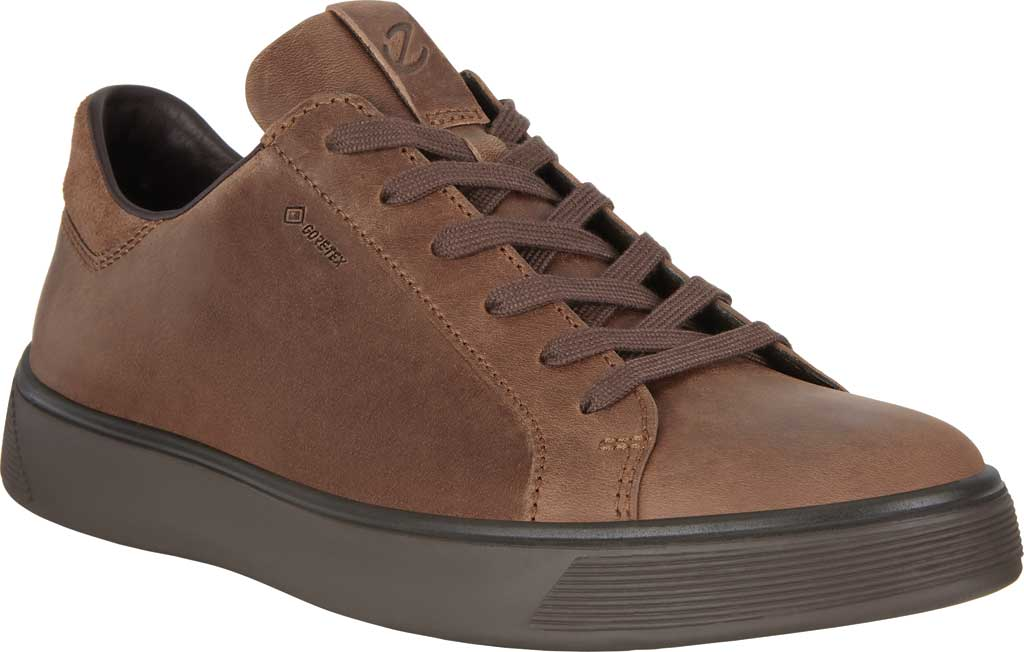 Men's ECCO Street Tray GORE-TEX Waterproof Sneaker, Cocoa Brown/Cocoa Brown Cow Oil Nubuck, large, image 1