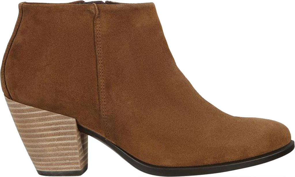 Women's ECCO Shape 55 HYDROMAX Western Ankle Bootie, Camel Calf Suede, large, image 2