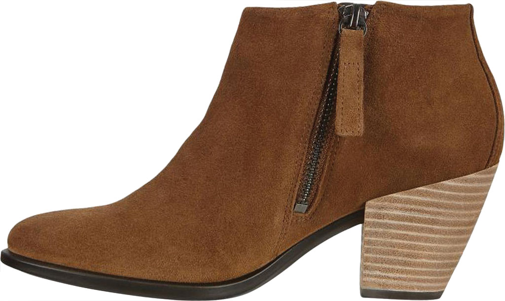 Women's ECCO Shape 55 HYDROMAX Western Ankle Bootie, Camel Calf Suede, large, image 3
