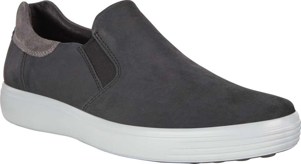 Men's ECCO Soft 7 Street Slip On Sneaker, Black/Magnet Java Nubuck, large, image 1