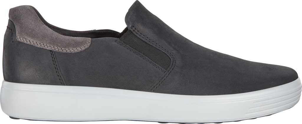 Men's ECCO Soft 7 Street Slip On Sneaker, Black/Magnet Java Nubuck, large, image 2