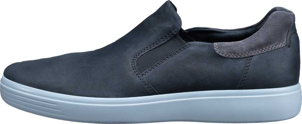 Men's ECCO Soft 7 Street Slip On Sneaker, Black/Magnet Java Nubuck, large, image 3