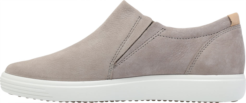 Women's ECCO Soft 7 Out Side Zip Sneaker, Warm Grey Smooth Leather/Nubuck, large, image 3