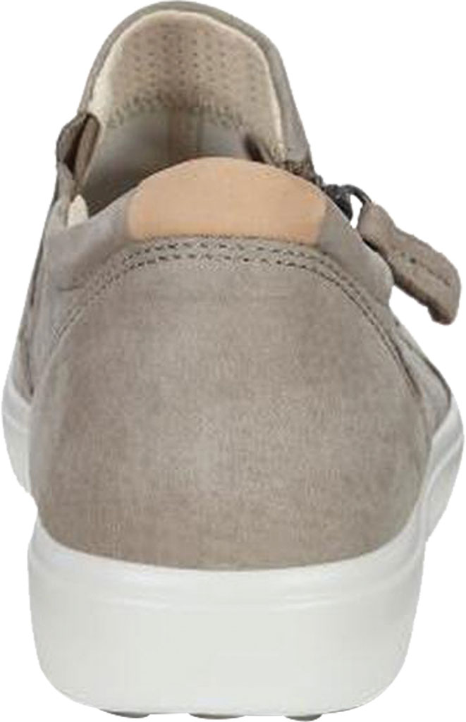 Women's ECCO Soft 7 Out Side Zip Sneaker, Warm Grey Smooth Leather/Nubuck, large, image 4