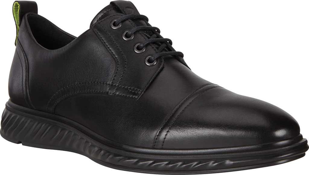 Men's ECCO St.1 Hybrid Lite Cap Toe Oxford, Black Full Grain Leather, large, image 1