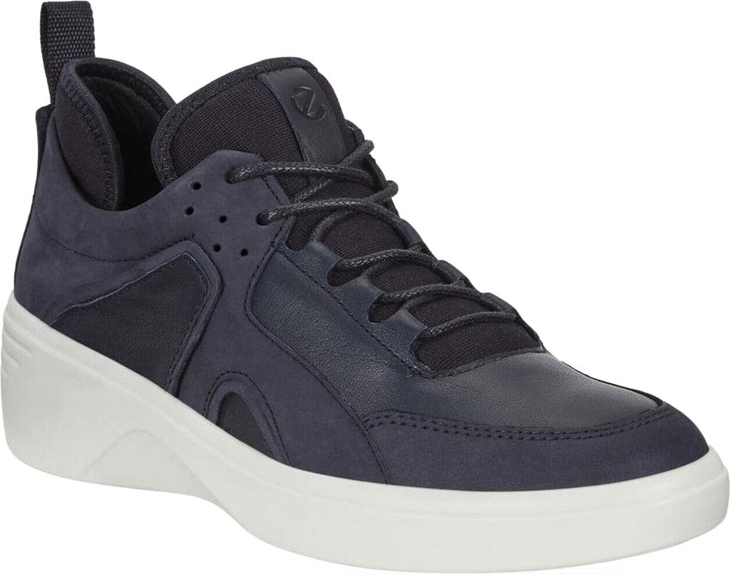 Women's ECCO Soft 7 Wedge Sneaker, Night Sky/Night Sky Nubuck/Textile, large, image 1