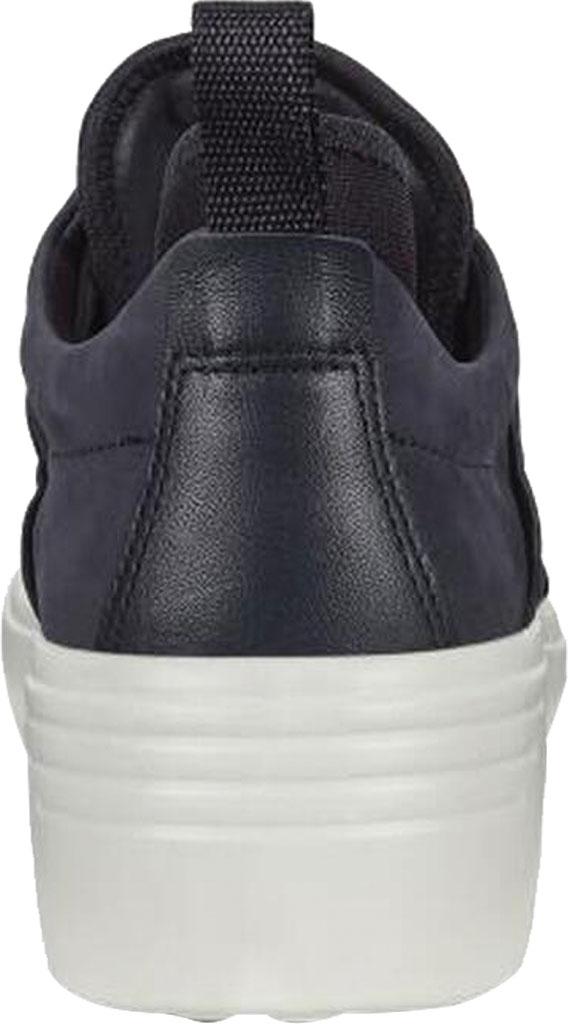 Women's ECCO Soft 7 Wedge Sneaker, Night Sky/Night Sky Nubuck/Textile, large, image 4
