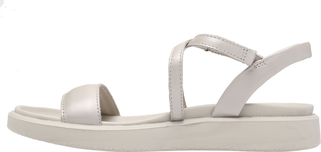 Women's ECCO Flowt LX Flat Strappy Sandal, Gravel Leather, large, image 3