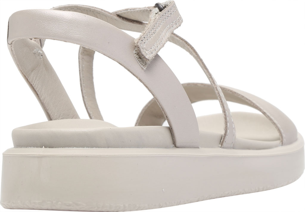 Women's ECCO Flowt LX Flat Strappy Sandal, Gravel Leather, large, image 4
