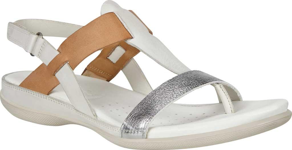Women's ECCO Flash T Strap Thong Sandal, Alu Silver/Shadow White Full Grain Leather/Nubuck, large, image 1