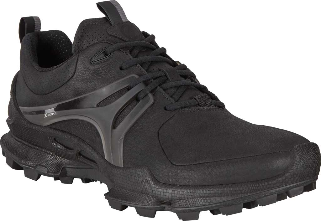 Men's ECCO BIOM C-Trail Low HYDROMAX Sneaker, Black Leather, large, image 1