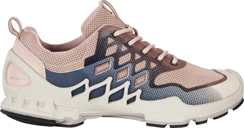 Women's ECCO BIOM Aex Low Sneaker, Rose Dust/Marine Textile, large, image 2