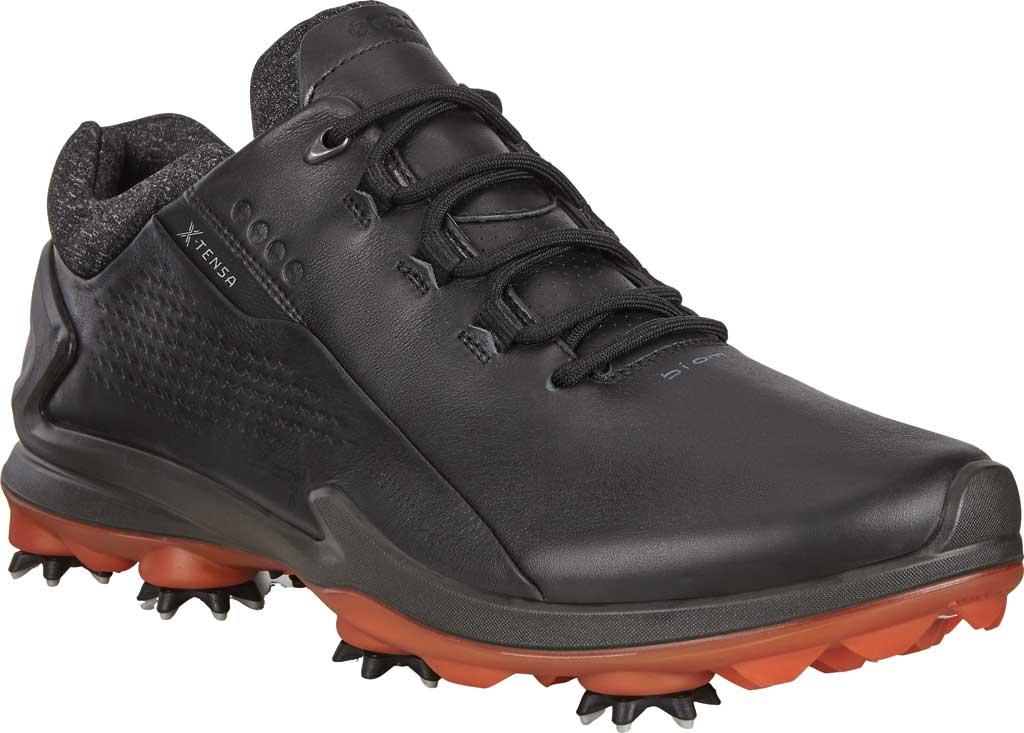 Men's ECCO Biom G3 GORE-TEX Waterproof Golf Spike, Black Full Grain Leather, large, image 1