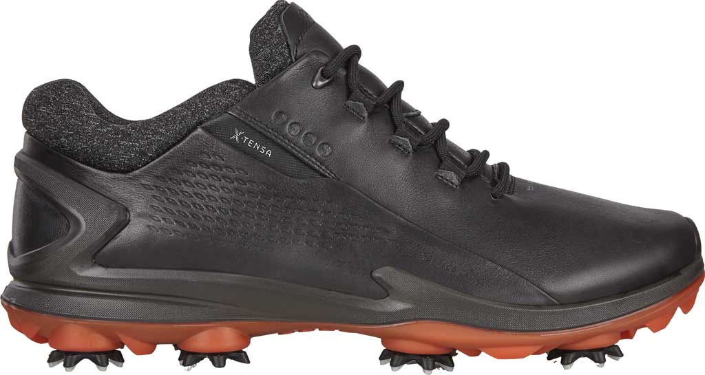 Men's ECCO Biom G3 GORE-TEX Waterproof Golf Spike, Black Full Grain Leather, large, image 2