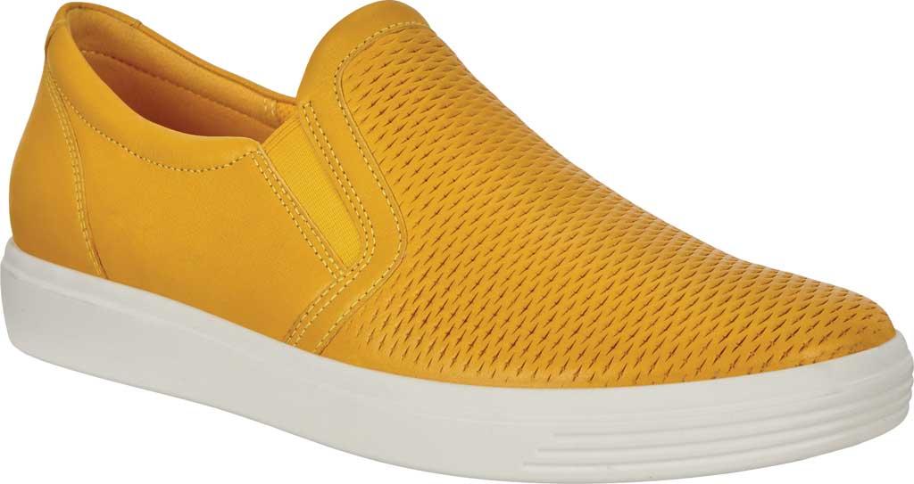 Women's ECCO Soft Classic Slip On Fashion Sneaker, Merigold Suede, large, image 1