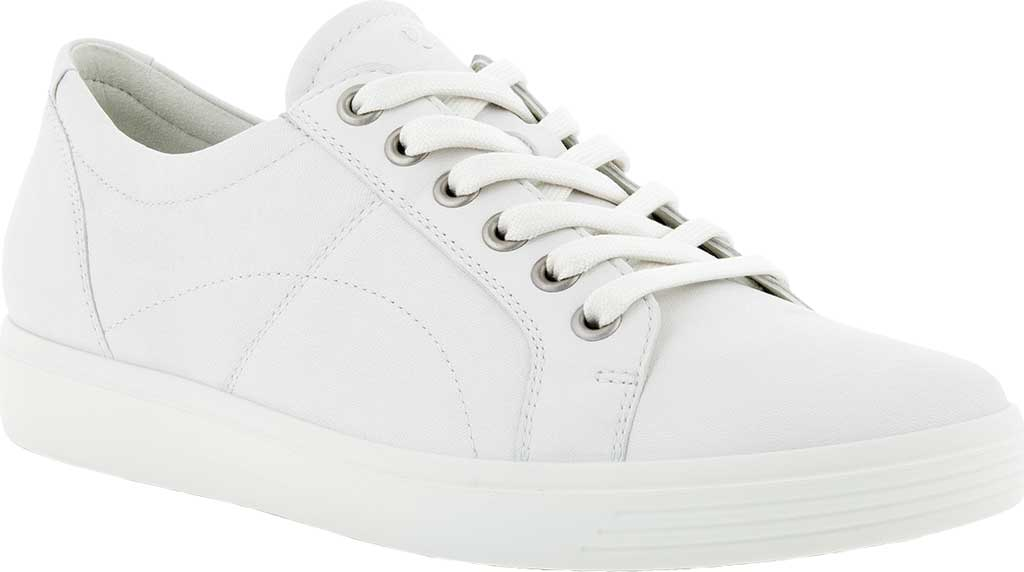 Women's ECCO Soft Classic Lace Sneaker, White Nappa Leather, large, image 1