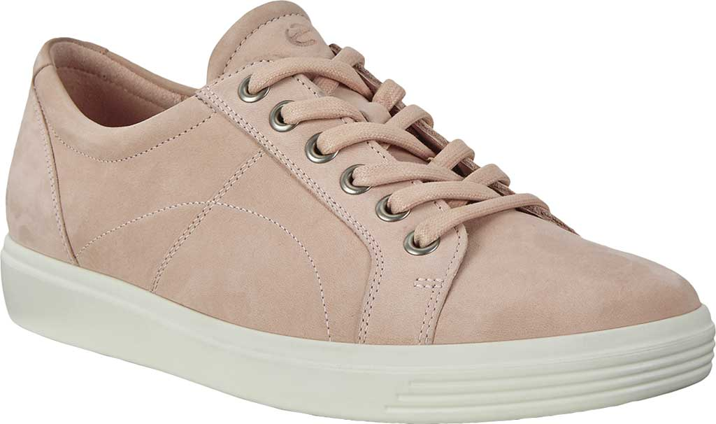 Women's ECCO Soft Classic Lace Sneaker, Rose Dust Nubuck, large, image 1