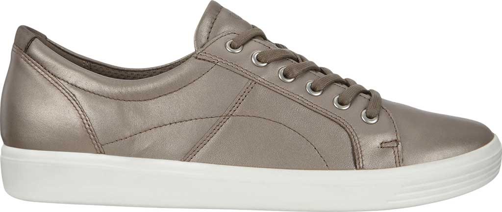 Women's ECCO Soft Classic Lace Sneaker, Stone Metallic/Warm Grey Suede/Nubuck, large, image 2