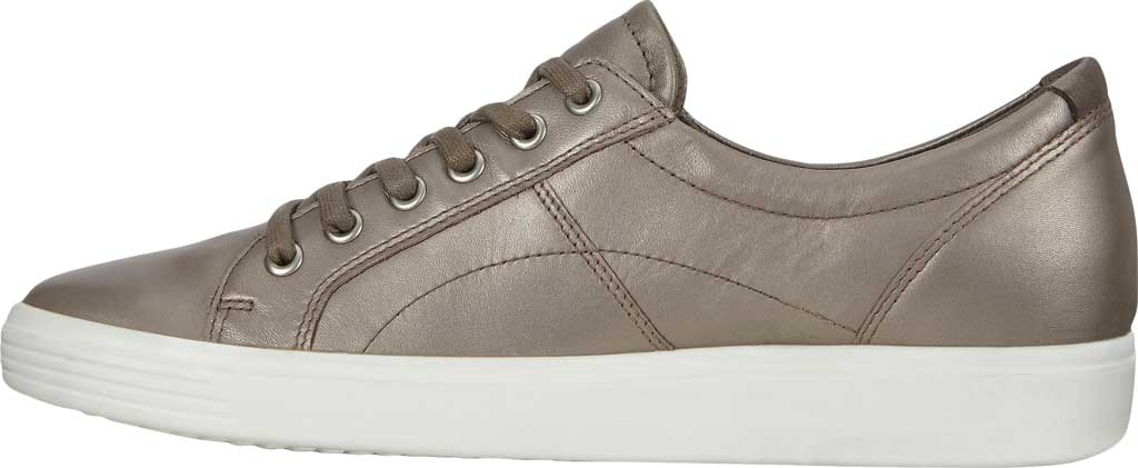 Women's ECCO Soft Classic Lace Sneaker, Stone Metallic/Warm Grey Suede/Nubuck, large, image 3