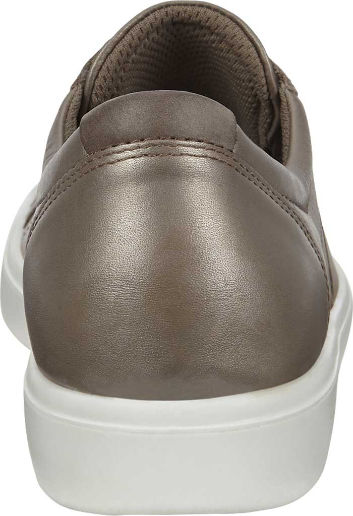 Women's ECCO Soft Classic Lace Sneaker, Stone Metallic/Warm Grey Suede/Nubuck, large, image 4