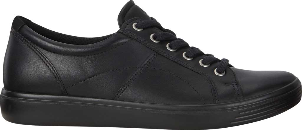 Women's ECCO Soft Classic Lace Sneaker, Black/Black/Black Suede/Nubuck, large, image 2