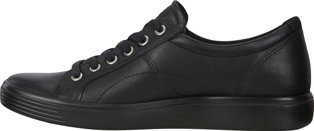 Women's ECCO Soft Classic Lace Sneaker, Black/Black/Black Suede/Nubuck, large, image 3